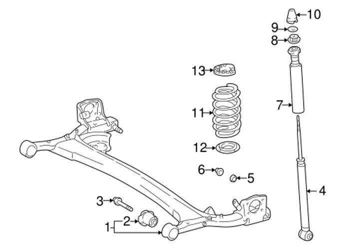 Rear Strut Shock Absorber Mount Bumper Bellows Fits Toyota