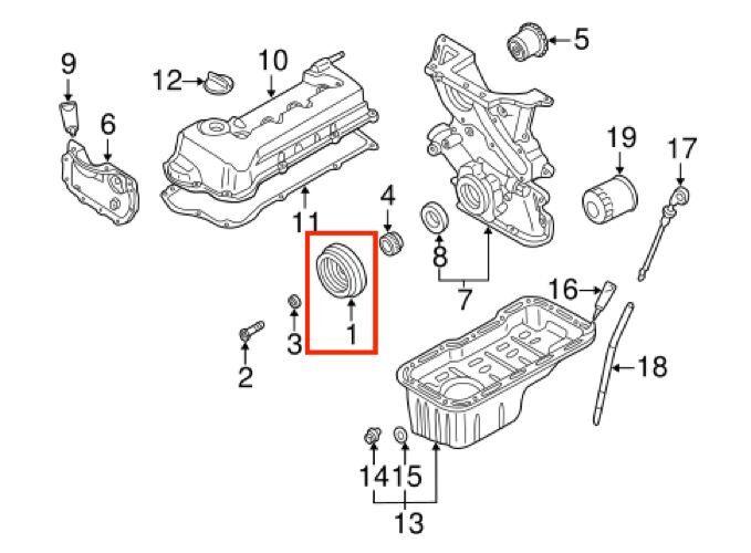 NEW Crankshaft Pulley Harmonic Balancer For Nissan Sentra