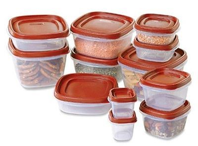 RUBBERMAID ~ 24 Piece Food Storage Container Set with EASY FIND LIDS ~ NEW