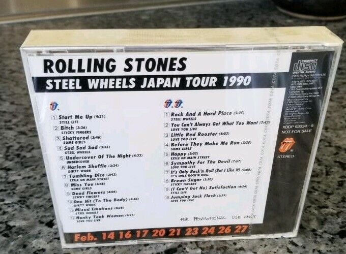 Rolling Stones Steel Wheels Japan Tour Feb 1990 Ultra Rare Sealed CD Authentic