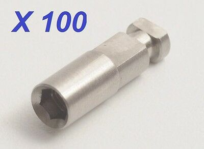 100 X Dental Implant Analog For All Internal Hex Implant System 3.75 Platform