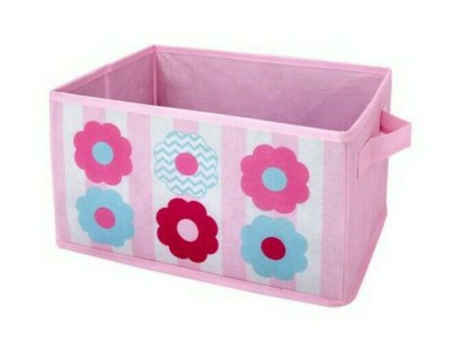"""NoJo Little Bedding Tickled Pink Collapsible Storage Bin Lot of 5 """"Free Shipping"""
