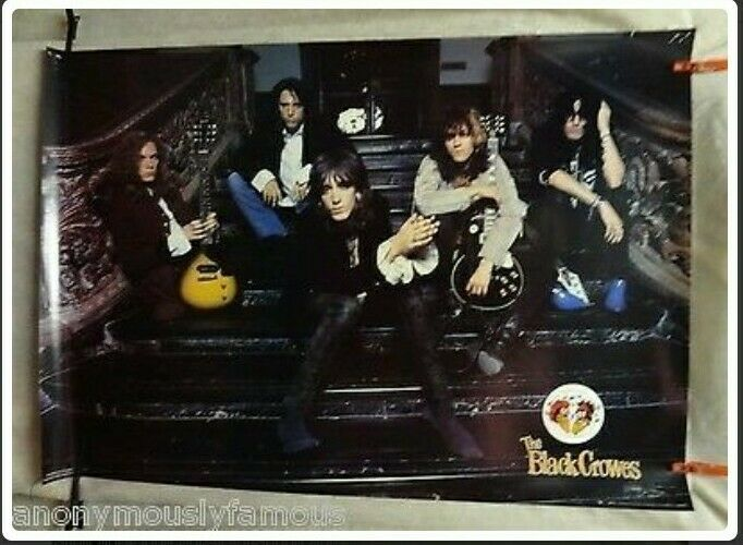 VTG New old stock 1990 THE BLACK CROWES SHAKE YOUR MONEY MAKER POSTER 33 X 23