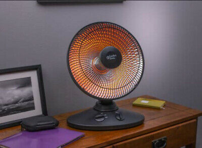 electric oscillating radiant dish heater with adjustable