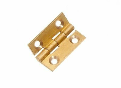- QTY OF 12 BUTT HINGES EXTRUDED SOLID BRASS 38MM 1 1/2 INCH + SCREWS 11G 7PK