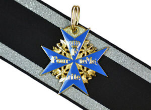 WW1-Repro-German-BLUE-MAX-MEDAL-Pour-Le-Merite-Award-Military-Order-High-Quality