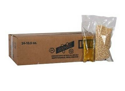 Popcorn Machine Supplies Snap Paks White Corn For 8 Oz Popper - 24 Packs