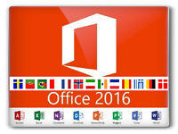 MICROSOFT OFFICE PROFESSIONAL PLUS 2016 32 / 64BIT GENUINE LICENSE KEY - LIFETIME ACTIVATION