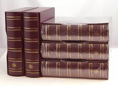 5 NEW LIGHTHOUSE BURGUNDY VARIO-G CLASSIC BINDERS-50 OFF