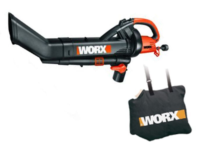 WORX WG509 TRIVAC 3-In-1 Electric Blower/Mulcher/Vacuum with Metal Blade