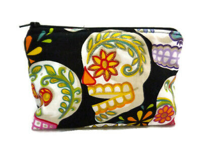 Sugarskull Make Up (Handmade Cosmetic Make-up Travel Bag Sugar Skull Stocking Stuffer Christmas)