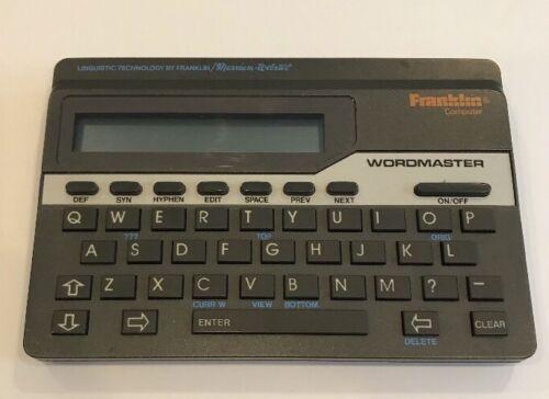 Franklin Wordmaster Deluxe Computer Merriam Webster WM-1055. Tested Working