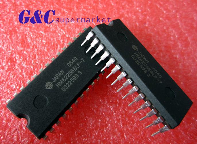 10PCS IC HM62256BLP-7 HM62256BL DIP28 8-BIT 256K SRAM  HITACHI NEW GOOD QUALITY