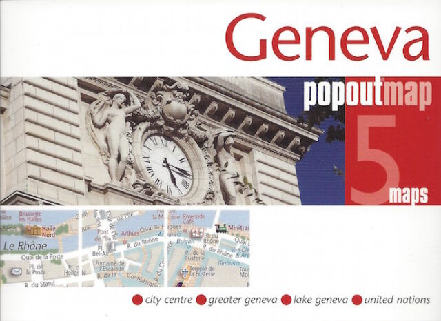 Geneva PopOut Map (Switzerland) *FREE SHIPPING - NEW*