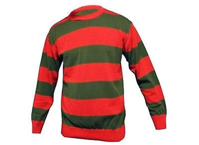 Fancy Dress Freddy Krueger Nightmare Sweater Glove Horror Jumper Halloween