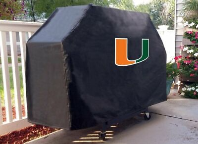 Miami Grill Cover with Hurricanes Logo on Black -