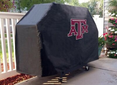 Texas A&M Grill Cover with Aggies Logo on Black -