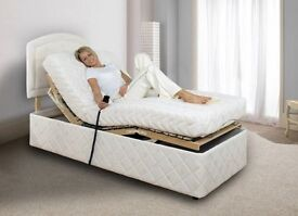2 x Adjustable Electric Single TEMPUR Bed & Mattress