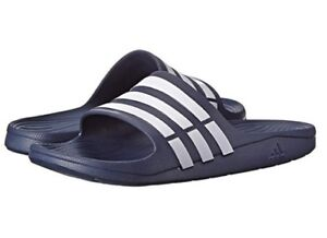 5eadf9145aff adidas Duramo Men s Slides - Size 9 - Dark Blue White for sale ...