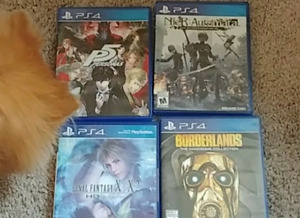 4 PS4 Games in mint condition
