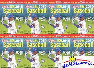 (8) 2019 Topps Heritage High Number Baseball Factory Sealed HANGER Box-280 Cards