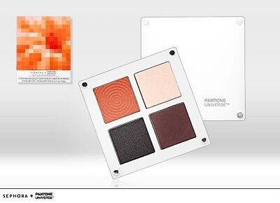 Sephora + Pantone Universe Color Of The Year Eyeshadow Quad~ Tangerine Tango (Assorted Pantone Colors)