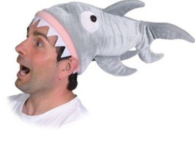 Mütze Hai zum lustigen Tier Kostüm an Karneval Fasching