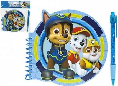 Paw Patrol Notepad and Pen. Ideal stocking filler or Party Favour - Crafts And Favors