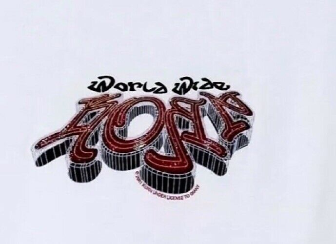 Korn White Logo Juniors One Size Fits All T-Shirt Band Merchandise NEW