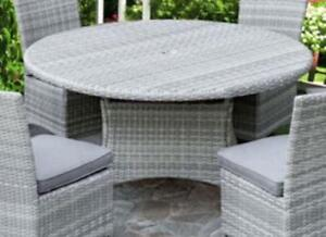 "Lioni Tropea 7T143-142RA-W-1_GRY Patio 56"" Round Table Cool Grey (Table Only) (new other)"
