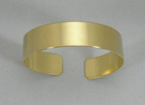 "Solid Brass Bracelet Blanks, 20 gauge, 1/2"" x 6"", one dozen"