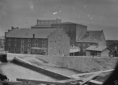 Haxall Flour Mill Canal Lock Richmond Va 1865 New 8X10 Us Civil War Photo