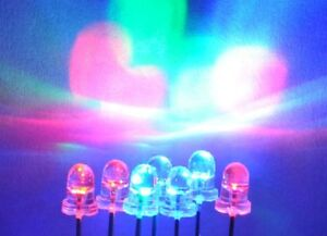 40pcs 5mm SLOW Bright Blinking Tri-Color RGB LED diode  2pin