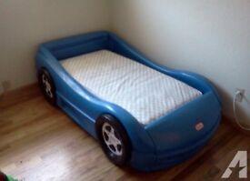 Little Tikes Blue racing car beds x2