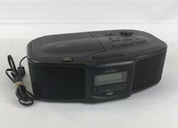 SONY iCF-CD800 Compact Disc CD Player AM FM Clock Radio Dual Alarms L4