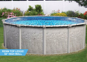 18x54 034 Round 7 034 Resin Top Ledge Above Ground Swimming Pool Package Ebay