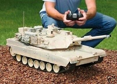 RC Tank M1A2 Abrams USA Airsoft Tank Toy 16 Military Battle Vechile w Sound
