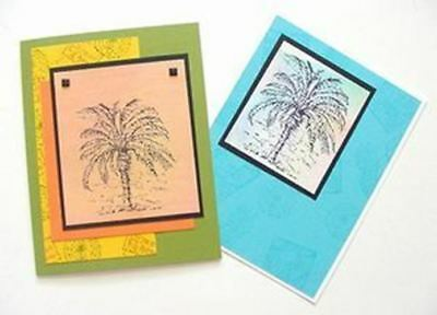 Palm Tree Greeting Note Card - Beautiful Hand Crafted – (Palm Tree Note Card)