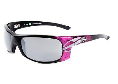NIB MORMAII Acqua Brazil Mens Hand Painted Sports UV400 Sunglasses Pink / Black