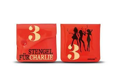 """""""3 Stengel für Charlie"""" Taschenaschenbecher Taschenascher Reise unterwegs NEU"""