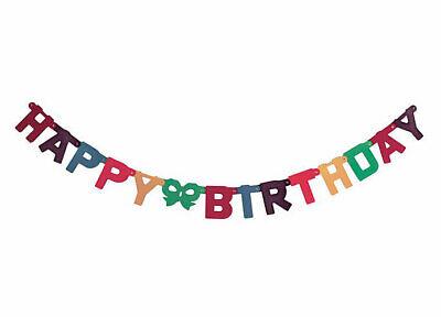 Neu Girlande Partygirlande 1,50 m Happy Bithday Buchstabenkette Banner!