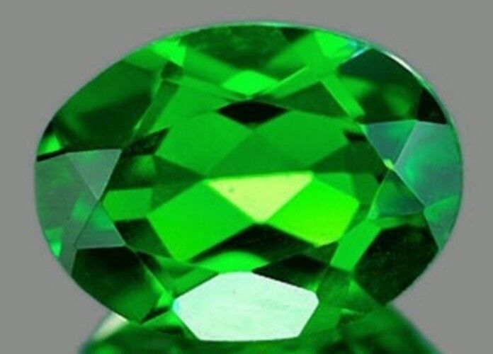 CHROME DIOPSIDE 8 x 6 MM OVAL CUT OUTSTANDING GREEN COLOR ALL NATURAL