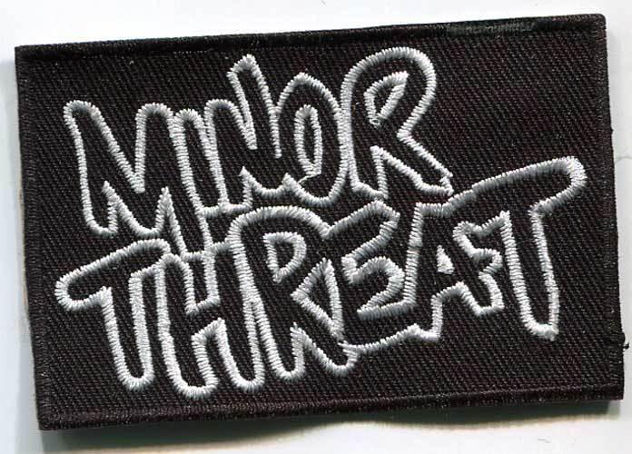 Minor Threat Logo Patch SXE, 7,5 cm