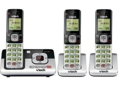 Handset 3-Cordless Phone Digital Answering System ID Call Waiting Home Office US