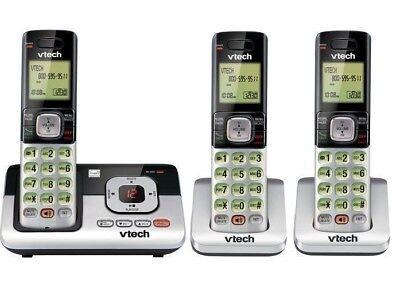 3 Cordless Phone System - New Handset 3-Cordless Phone Digital Answering System ID Call Waiting Home Offic
