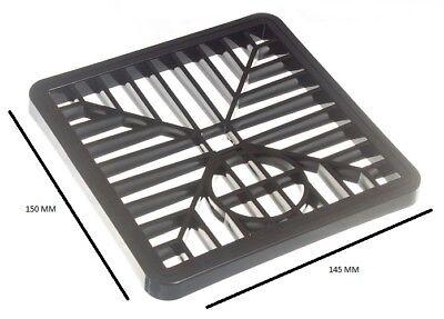 Tapa Gulley Rejilla Desagüe Negro PVC 6 Inch 150mm Cuadrado Paquete De...