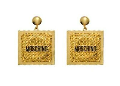 Moschino Jeremy Scott Collaboration H&M Gold-plated Condom Square Clip Earrings