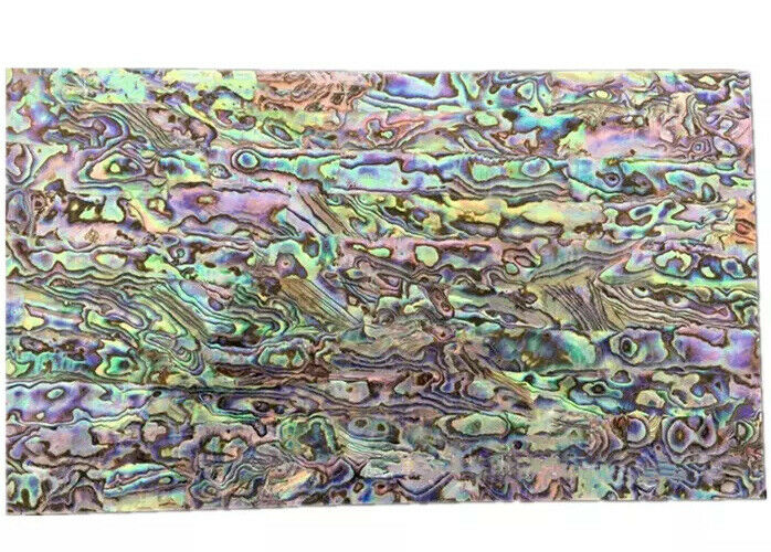 1x real abalone shell sheet paua slice inlay 240x140x0.2mm luthier veneer diy