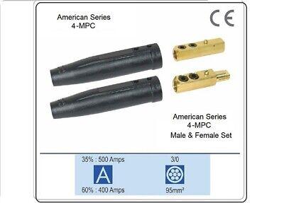 Welding Cable Connector 4-mpc 2 Bolt Set Male Female Set 30-40 Twist Lock