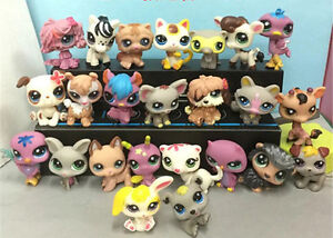 HOT Cutest Rare Littlest Pet Shop LPS 24 Pcs Lot Figure Collection Cat Dog Toy